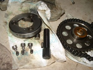 Three Sheared Starter Clutch Screws