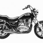 '83 KZ750 K1 - Stock photo