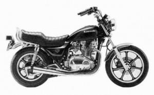 '84 KZ750 K2 - Stock Photo