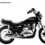 '82 KZ750 M1 (CSR) - stock photo right
